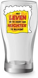 Bier glas Het leven is te kort om