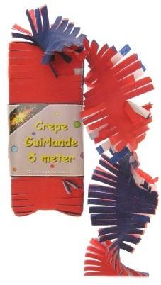 Crepeguirlande Rood/Wit/Blauw 5mtr