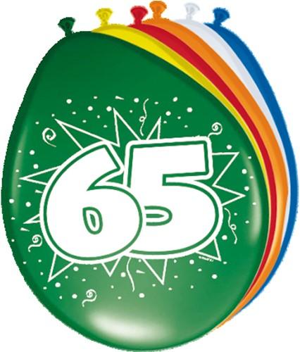 Ballonnen 65 jaar 8st