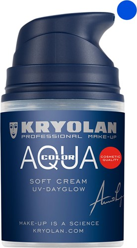Aquacolor Softcream 50ml Kryolan UV-Blauw