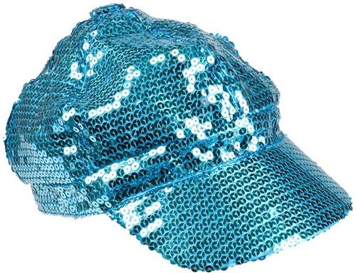 Disco Pet Pailletten Blauw