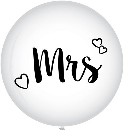 Megaballon Mrs. - Huwelijk (90cm)