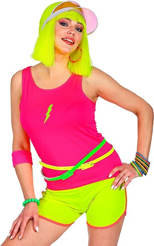 Dames Hemdje Neon Pink (Tanktop)