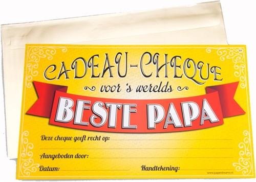 Cadeau Cheque Beste Papa