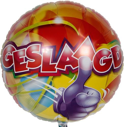 Folieballon Geslaagd 43cm