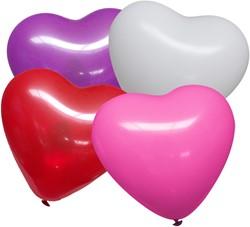 Hartballonnen Multi 25cm 10 stuks