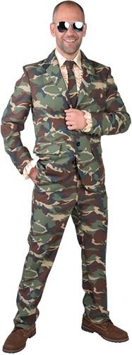 Herenkostuum Camouflage Leger