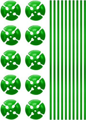 Ballonstokjes Groen (per stuk)