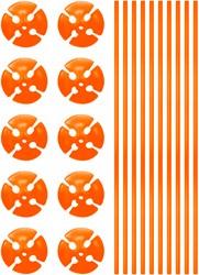 Ballonstokjes Oranje (per stuk)