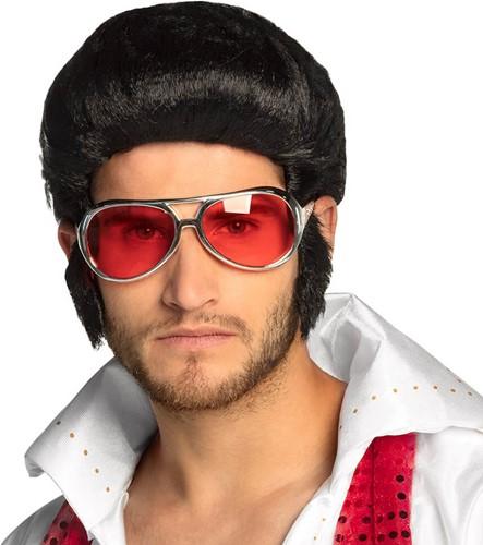 Bril Elvis Rood