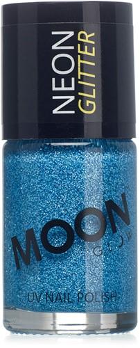 UV Nagellak Glitter Blauw (14ml)