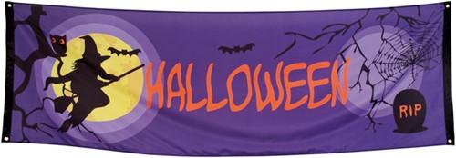 Banner Halloween Midnight Moon 74X220cm