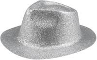 Disco Glitter Hoed Zilver