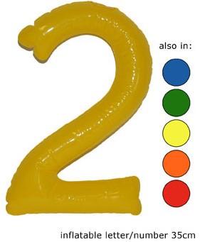 Opblaas Cijfer 2 35cm Oranje