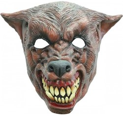 Bruine Wolf Masker Latex Luxe