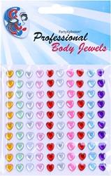 Body Jewel Hartjes 6mm Assorti Kleur 100st.
