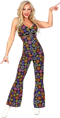 Jumpsuit Disco Seventies Flower Power