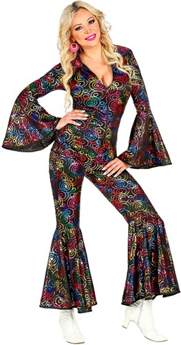 Jumpsuit Disco Seventies Multi Circles