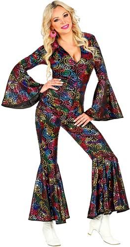 Jumpsuit Disco Seventies Multi Circles