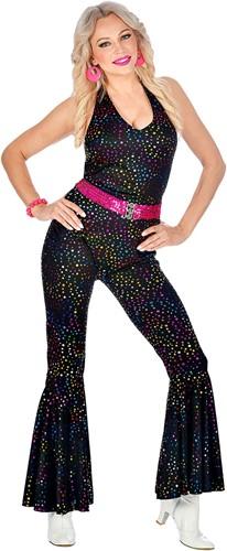 Jumpsuit Disco Seventies Multi Dots