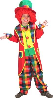 Kinderkostuum Clown Appie (met hoed)