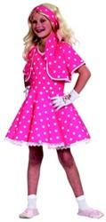 Jurk Rock 'n Roll Meisje Pink