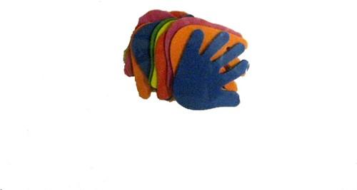 Viltstickers Handen