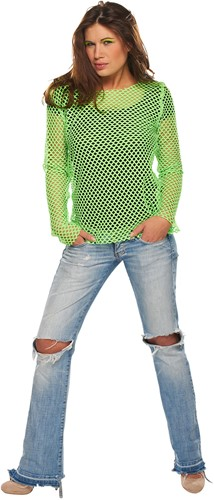 Nethemd Groen Fluor