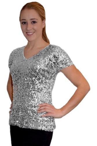 Pailletten Shirt Zilver voor dames
