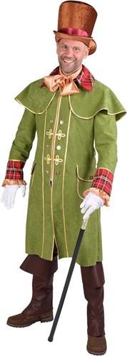 Koetsiersmantel Groen Luxe voor heren