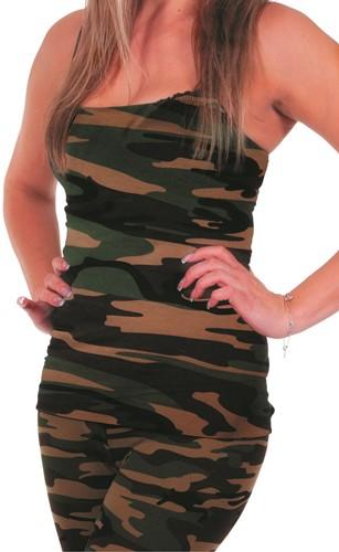 Topje Camouflage voor dames