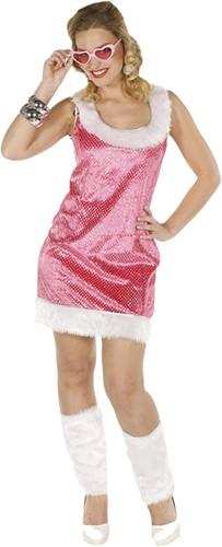 Pailletten Jurkje Glitter+Beenwarmers Pink