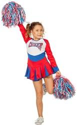 Cheerleaderspakje Rood/Wit/Blauw voor meisjes