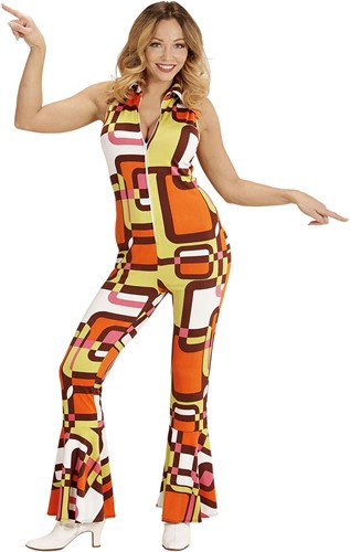 Jumpsuit Disco Seventies Hippie Retro