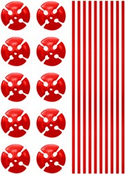 Ballonstokjes Rood (per stuk)