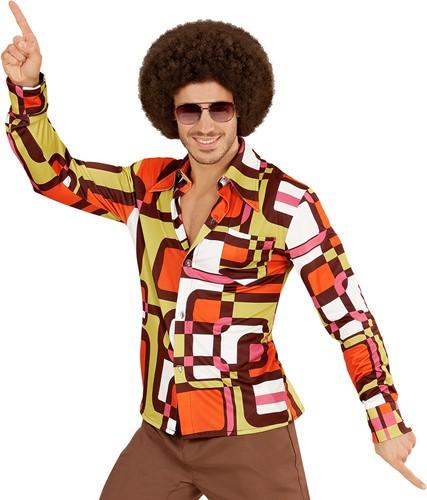 Heren Disco Blouse Seventies Hippie Retro