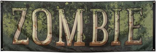 Banner Zombie 74X220cm