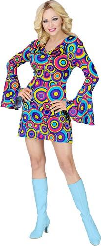 Jurkje Disco Seventies Groovy Cirkels Blauw