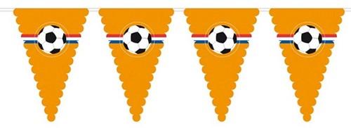 Vlaggenlijn Oranje Voetbal Mega 8mtr