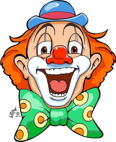 Wanddeco Clown Appie