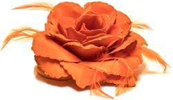 Bloemenbroche Oranje Luxe + Glitter