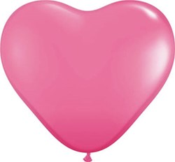 Hartballonnen Roze 25cm 100 stuks