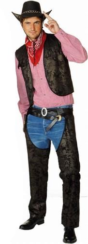 Cowboy Chaps Zwart voor heren