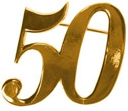 Broche 50 Goud