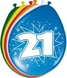 Ballonnen 21jaar 8st