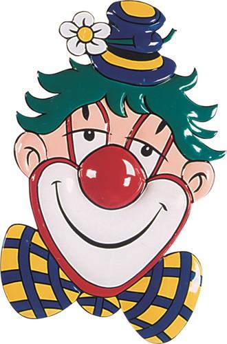Wanddeco Clownskop met Margriet