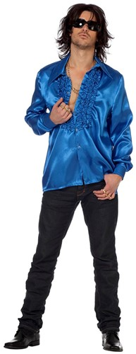 Disco Ruches Blouse Luxe Blauw