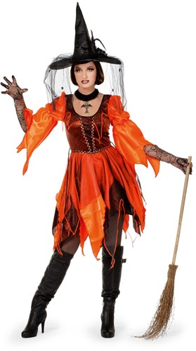 Damesjurk Wicked Witch Oranje/Bruin
