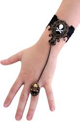 Armband Kant met Ring Doodshoofd