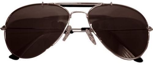 Pilotenbril Zilver met Spiegelglas